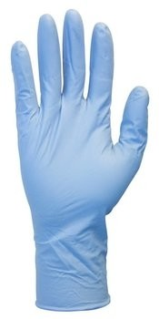 "Safety Zone HD 8 Mil 12"" Length Blue Nitrile Powder Free Gloves"