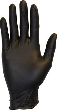 Safety Zone GNPR-BK 3 to 4 Mil Black Nitrile Powder Free Gloves
