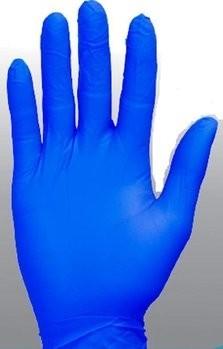 Safety Zone GNPR-1BL Super Stretch Blue Nitrile Powder Free Gloves