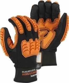 Majestic 21475BK Knucklehead Mechanics Gloves with D3O® Impact Protection ANSI Cut Level A3
