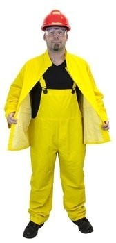 Safety Zone Yellow 3 Piece PVC Polyester Rain Suit