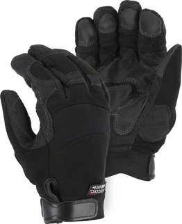 Majestic A5B39B Alycore 5/10BP Double PVC Palm Cut Resistant Level 5+ Gloves