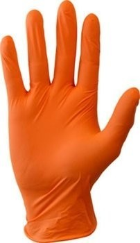 Safety Zone GNPR-1M 4 Mil Orange Nitrile Powder Free Gloves