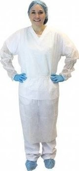 Safety Zone Latex-Free Isolation Gown with Ties