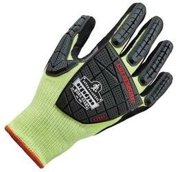 Ergodyne ProFlex® 7141 Hi Vis Nitrile-Coated DIR Impact Cut Level 4 Gloves