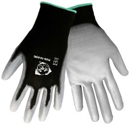 "Global Glove ""Atlas 370 Style"" PUG-10 Gray Polyurethane Dip Gloves"