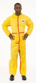 Enviroguard ChemSplash 1 7013YT Coveralls with Elastic Wrists & Ankles - Compare to Tyvek