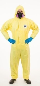 Enviroguard ChemSplash 1 7015YS Coveralls with Hood & Boot, Elastic Wrists - Compare to Tyvek