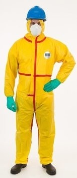 Enviroguard ChemSplash 1 7015YT Coveralls with Hood and Elastic Cuffs - Compare to Tyvek